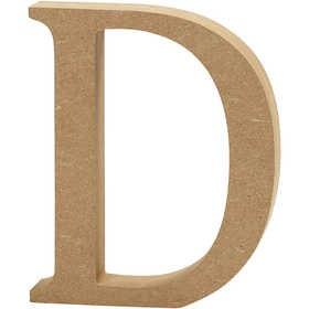 Ξύλινo γράμμα D Ύψος 13cm Πάχος 2cm