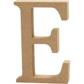 Ξύλινo γράμμα E Ύψος 13cm Πάχος 2cm