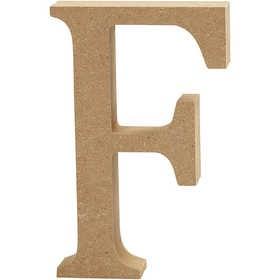 Ξύλινo γράμμα F Ύψος 13cm Πάχος 2cm