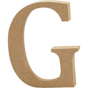 Ξύλινo γράμμα G Ύψος 13cm Πάχος 2cm