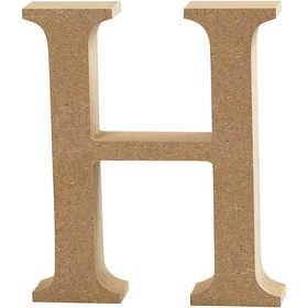 Ξύλινo γράμμα H Ύψος 13cm Πάχος 2cm
