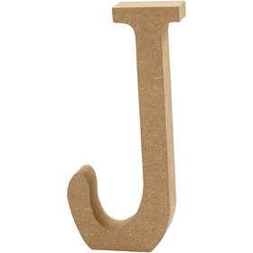 Ξύλινo γράμμα J Ύψος 13cm Πάχος 2cm