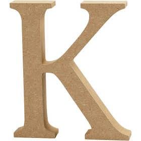 Ξύλινo γράμμα K Ύψος 13cm Πάχος 2cm