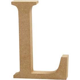 Ξύλινo γράμμα L Ύψος 13cm Πάχος 2cm