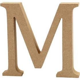 Ξύλινo γράμμα M Ύψος 13cm Πάχος 2cm