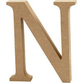 Ξύλινo γράμμα N Ύψος 13cm Πάχος 2cm
