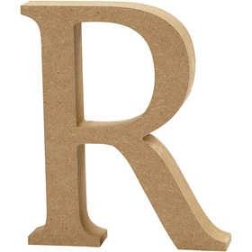 Ξύλινo γράμμα R Ύψος 13cm Πάχος 2cm