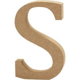 Ξύλινo γράμμα S Ύψος 13cm Πάχος 2cm