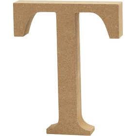 Ξύλινo γράμμα T Ύψος 13cm Πάχος 2cm