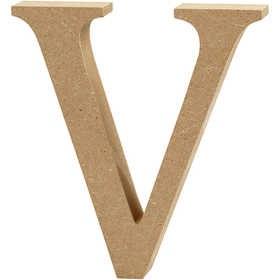 Ξύλινo γράμμα V Ύψος 13cm Πάχος 2cm