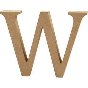 Ξύλινo γράμμα W Ύψος 13cm Πάχος 2cm