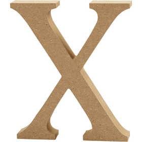 Ξύλινo γράμμα X Ύψος 13cm Πάχος 2cm