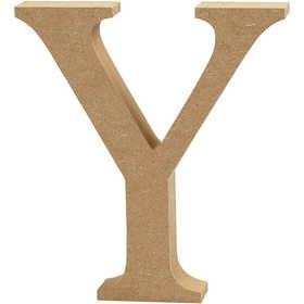Ξύλινo γράμμα Y Ύψος 13cm Πάχος 2cm