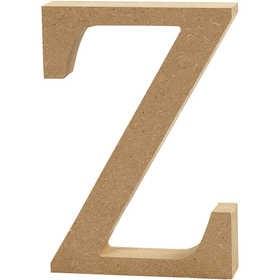 Ξύλινo γράμμα Z Ύψος 13cm Πάχος 2cm