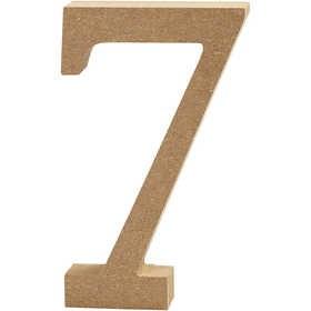 Ξύλινoς Αριθμός 7 Ύψος 13cm Πάχος 2cm