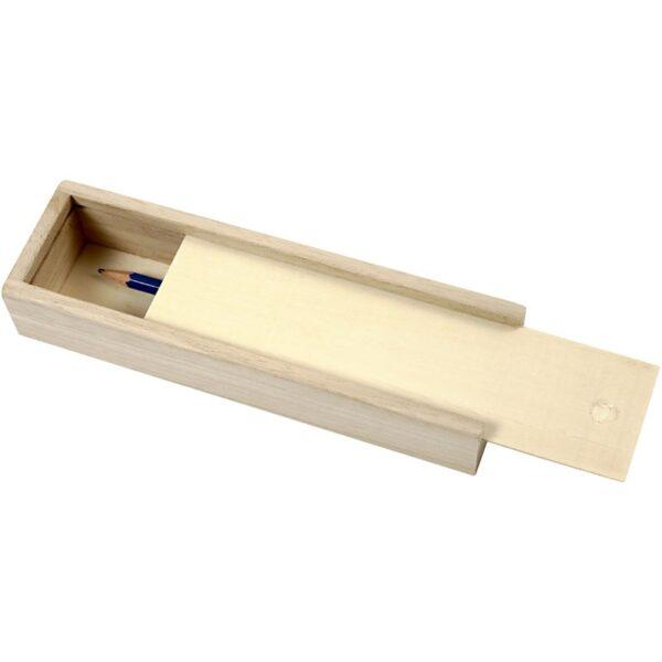 Ξύλινη  Συρταρωτή Μολυβοθήκη 20x6x3,5 cm,