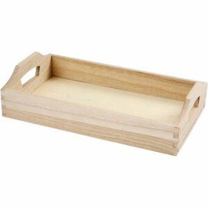 Ξύλινο Κουτί για κοσμήματα  9x9x5 cm 1τεμ.