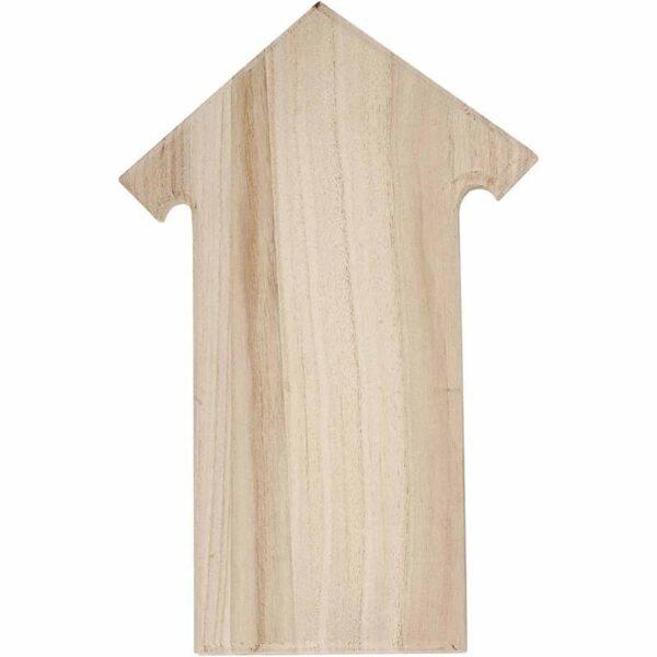 Ξύλινη Πινακίδα Πόρτας Βέλος Ύψος 20cm Πλάτος 30cm 1τεμ