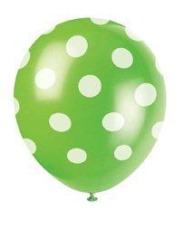 Μπαλόνια λαχανί πουά 6τεμ.