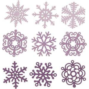 Ξύλινα Διακοσμητικά Ice Krystals 72 τεμ. 9 σχέδια