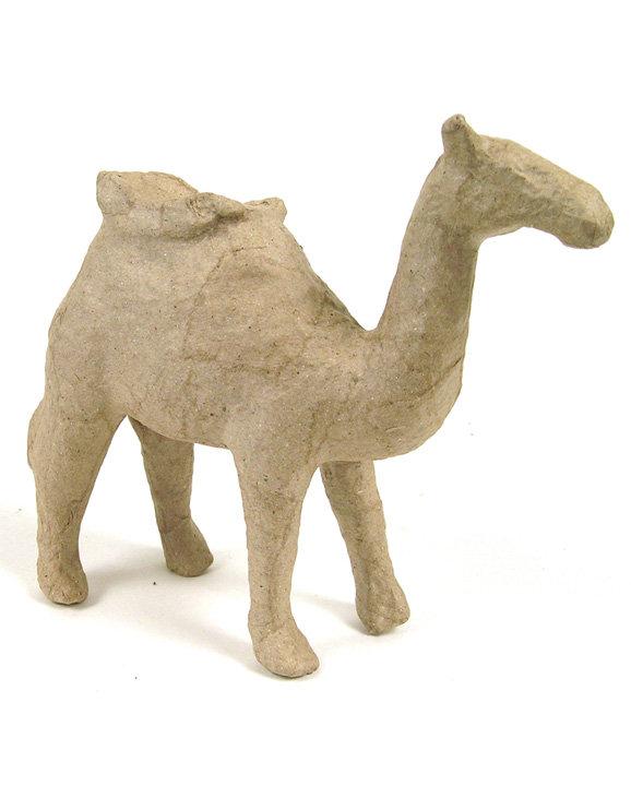 Καμήλα με κάθισμα papier mache 9x21x22εκ