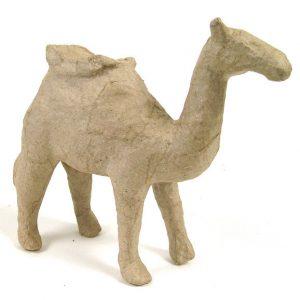 Καμήλα με κάθισμα mini papier mache 5x13x13εκ