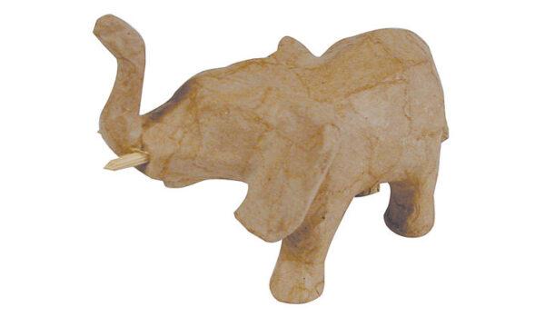 Ελέφαντας με σηκωμένη προβοσκίδα mini papier mache 5x11x8εκ