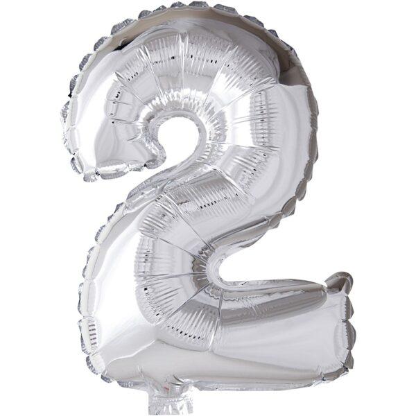 Μπαλόνι foil ασημί ύψος 40εκ. Νο 2