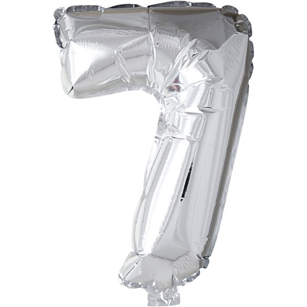 Μπαλόνι foil ασημί ύψος 40εκ. Νο 7