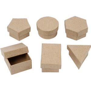 Κουτιά Papier Mache  5 σχέδια 1τεμ
