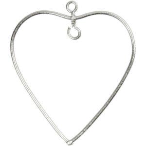 Μεταλλική Κρεμαστή Καρδιά 6x6.5cm 6τεμ