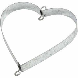 Μεταλλική Κρεμαστή Καρδιά 7x7cm 6τεμ