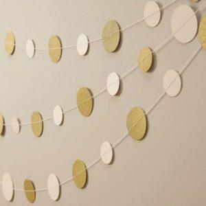 Γιρλάντα κονφετί χρυσό λευκό 5 μέτρα