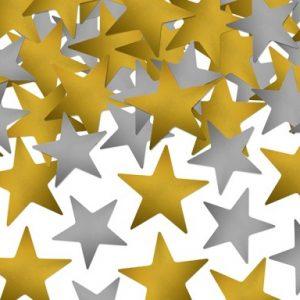 Κομφετί Αστέρια Χρυσό και Ασημί 5G.