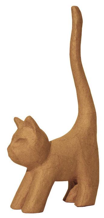 Γάτα με μεγάλη ουρά papier mache γίγας 110x40x193εκ