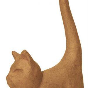 Γάτα με μεγάλη ουρά papier mache 9,3x3,5x16,5εκ