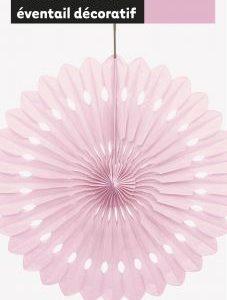 Κρεμαστή διακοσμητική βεντάλια ροζ 1τεμ.