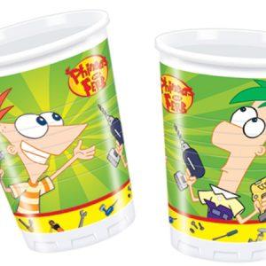Ποτήρια 266ml Phineas & Ferb 10τεμ.