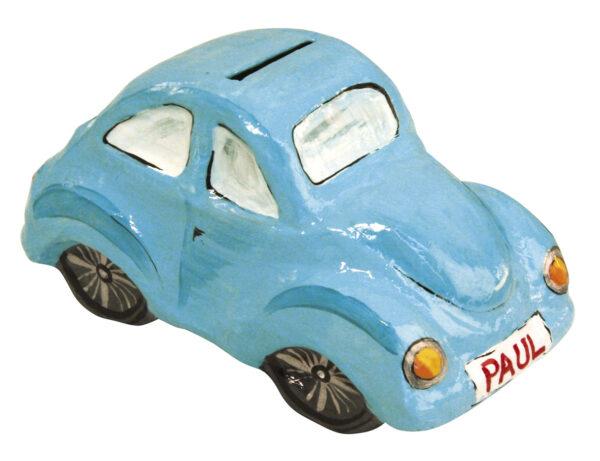 Αυτοκινητάκι κουμπαράς papier-mache