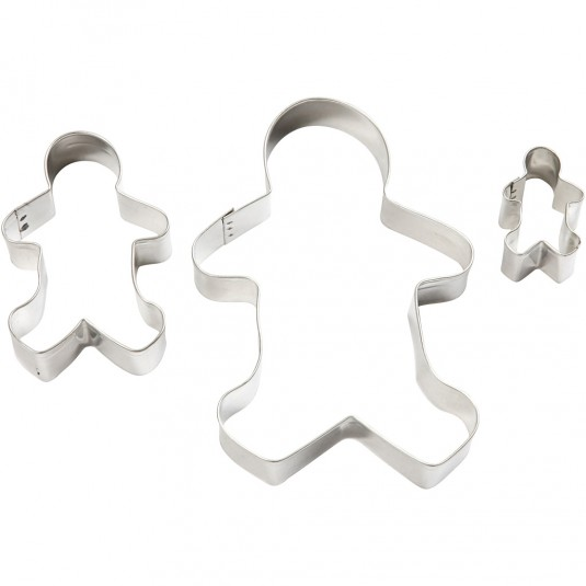 """Cookie Cutters """"Gingerbread Man"""" 3τεμ."""