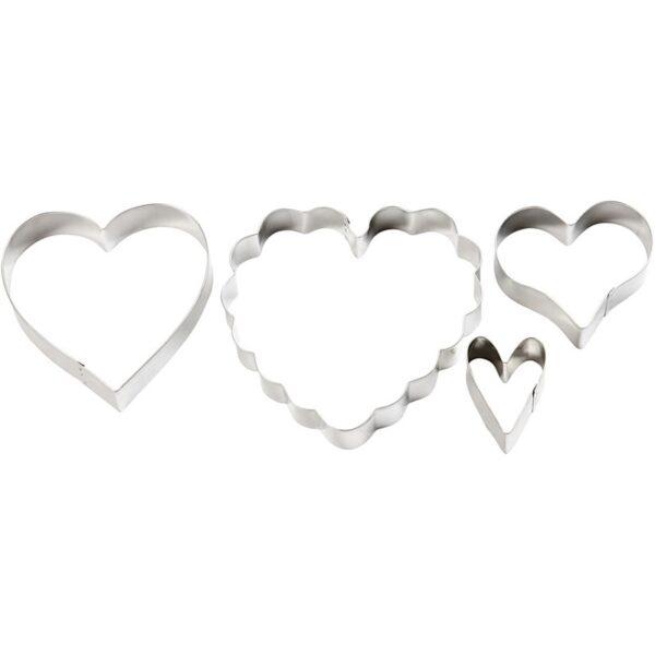Cookie Cutters Καρδιές, 4τεμ.