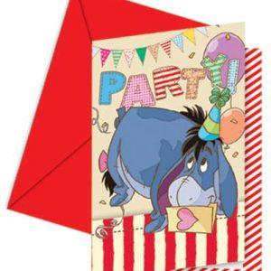 Προσκλήσεις με κοπτικό Γουίνι γενέθλια