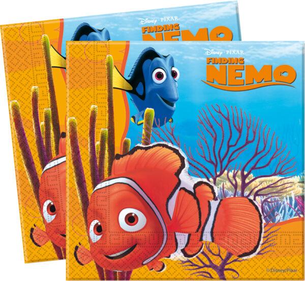 Χαρτοπετσέτες 33x33εκ. 2φυλλες Disney ΝΕΜΟ 20τεμ.