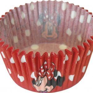 Θήκες για cupcake Μίνι κόκκινες πουά διάμ. 7εκ. - 24τεμ.