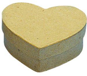 Κουτί papier-mache καρδιά