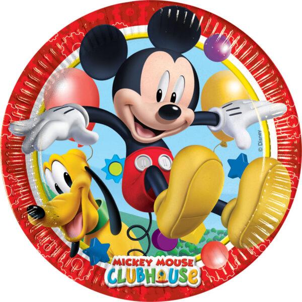 Πιάτα γλυκού 20εκ. Playful Mickey 8τεμ.