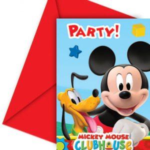 Προσκλήσεις και φάκελοι Playful Mickey 6τεμ.