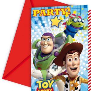 Προσκλήσεις με φακέλους Toy Story STAR POWER 6τεμ.