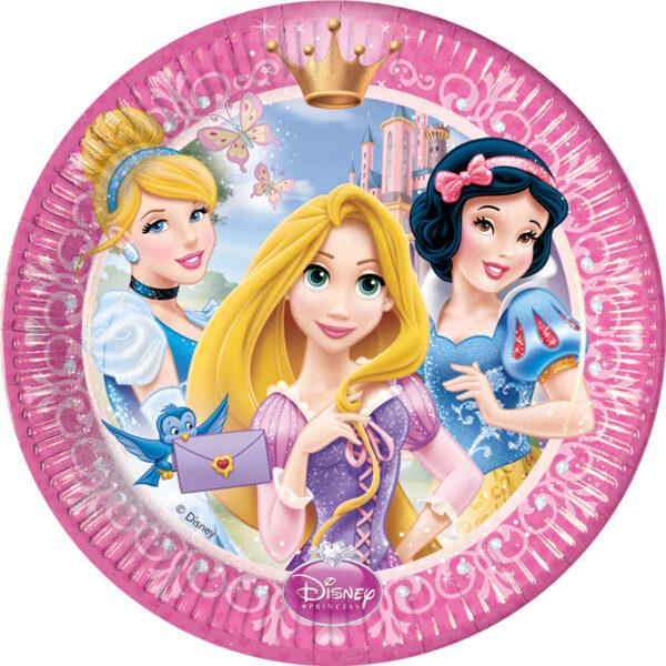 Πιάτα γλυκού 20εκ. Disney Princess Glamour 8τεμ.