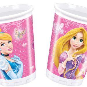 Ποτήρια πλαστικά 200ml Disney Princess Glamour 8τεμ.